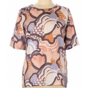 See By Chloe 100% Silk Top Blouse Mod Abstract 6